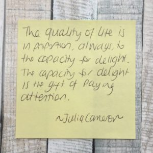 Quote from the Artists Way