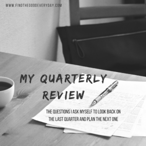 My Quarterly Review
