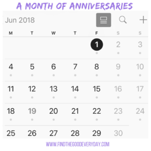 A Month of Anniversaries