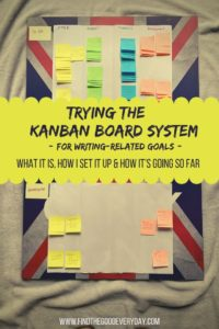 Trying the Kanban Board System (for writing-related goals)