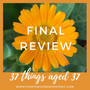 37 things aged 37 Review