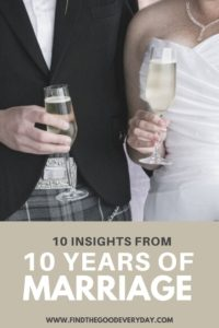 10 Insights from 10 Years of Marriage pin