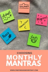 Monthly Mantras Post-It's Pin