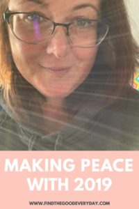 Making Peace with 2019 Self Portrait with sun flare