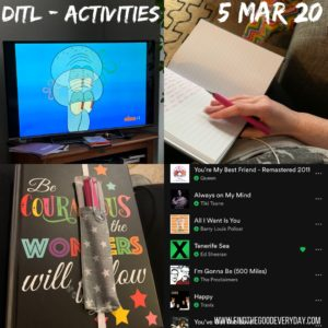 Day in the Life - 5th March 2020 - Activities photos
