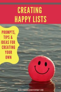Creating Happy Lists Pin Image