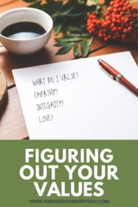 Figuring Out Your Values - pinnable image