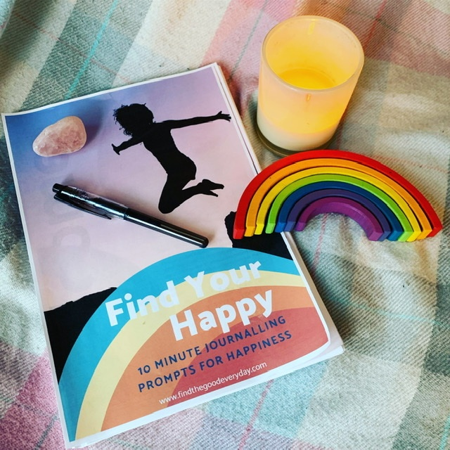 Find Your Happy journalling workbook printed out
